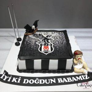 beşiktaşlı doğum günü pastası