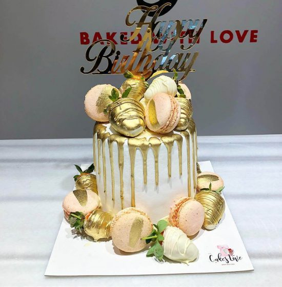 çilekli makaron pastası
