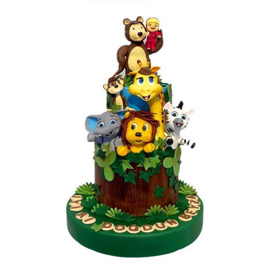 hayvanlı-orman-pasta
