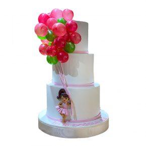 ucan-balonlu-kız-pastasi